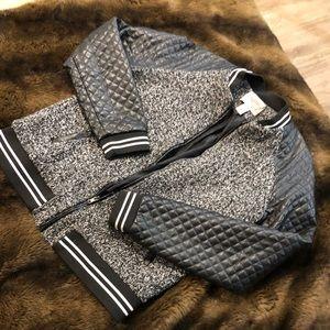 Vegan Leather Varsity Jacket